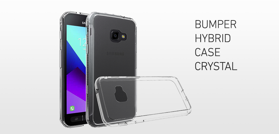 Screenor Bumper Hybrid Case Crystal